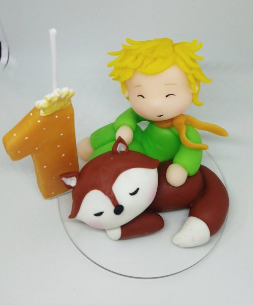 Birthday Candle theme The Little Prince with the fox
