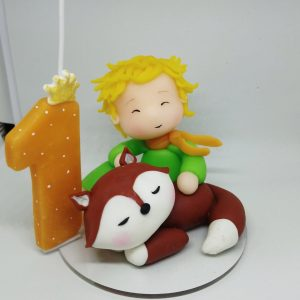 Birthday Candle theme The Little Prince Sitted with the fox