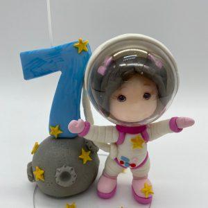 Birthday Candle theme Astronaut (Boy/Girl)