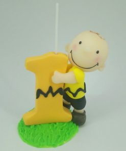 Handmade Birthday Candle Charlie Brown Inspired