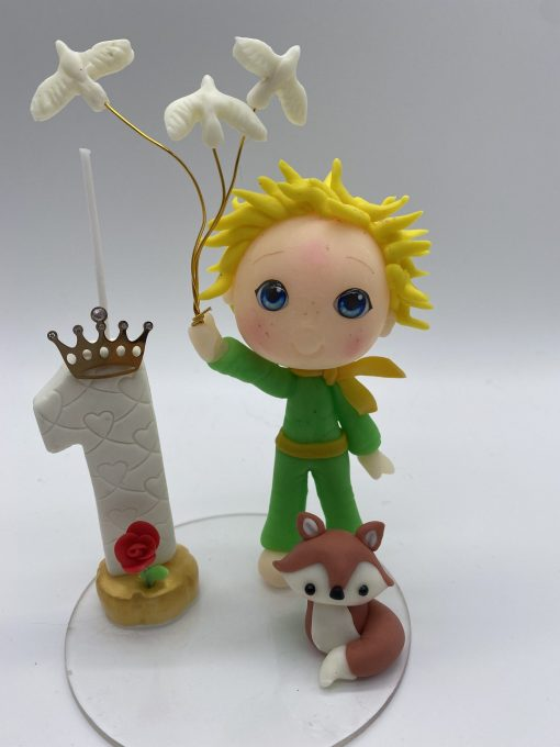 Birthday Candle theme The Little Prince with white doves