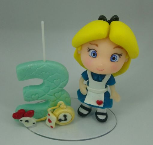 Birthday candle Alice in Wonderland Inspired